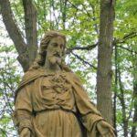 Statue du Sacré-Coeur de Jésus sur la propriété du Montmartre canadien à Québec